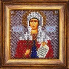 Рисунок на ткани Вышивальная мозаика  4069 Икона Св. Зоя Вифлиемская 6,5х6,5 см