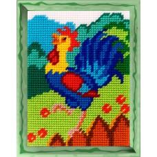 Набор для вышивания с пряжей BAMBINI X2279 Петушок 15х20см