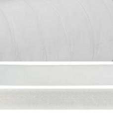 Лента бархатная TBY.LB2502 нейлон шир.25мм цв.белый уп.20м