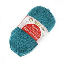 Пряжа для вязания ПЕХ Деревенская (100% полугрубая шерсть) 10х100г/250м цв.591 лагуна