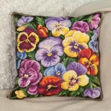 Набор для вышивания PANNA ПД-1632 Подушка Виола 30 x 30 см