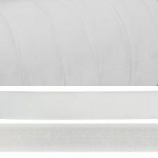 Лента бархатная TBY.LB1502 нейлон шир.15мм цв.белый уп.20м