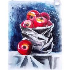 Алмазная вышивка Натюрморт яблоками LG129 40х50 тм Цветной
