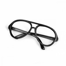 Очки без стекла TBY.53730 цв.черный 7см, круглые пластик уп.10шт