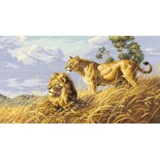 Набор для вышивания Classic Design 4400 Львы в саванне 51х29 см