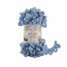 Пряжа для вязания Ализе Puffy (100% микрополиэстер) 5х100г/9.5м цв.280 средне-синий