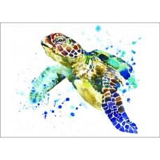 Набор Цветной для изготовления картины со стразами LE015 Черепаха 30х40