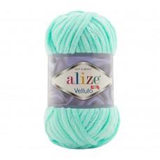 Пряжа для вязания Ализе Velluto (100% микрополиэстер) 5х100г/68м цв.019 св.бирюзовый