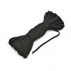 Шнур отделочный Сороконожка с3601г17 шир.6мм (3мм) рис.8773 цв.26 черный уп.25м