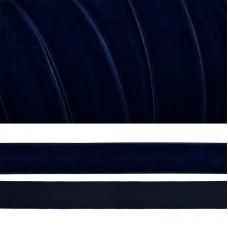 Лента бархатная TBY.LB2054 нейлон шир.20мм цв.т.синий уп.20м