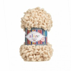 Пряжа для вязания Ализе Puffy Fine (100% микрополиэстер) 5х100г/14м цв.310 шампань