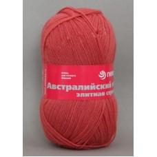 Пряжа для вязания ПЕХ Австралийский меринос (95% мериносовая шерсть, 5% акрил высокообъемный) 5х100г/400м цв.185 землянка