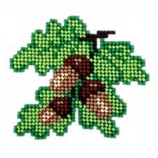 Набор для вышивания бисером LOUISE  L501 Дубовые листья 11х11 см