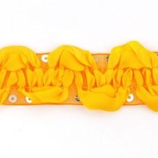 Тесьма с пайетками TBY TH463-1 шир.25мм цв.017 оранжевый уп.18,28м