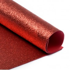 Фоамиран глиттерный Magic 4 Hobby 2 мм MG.GLIT.H001 цв.красный, 20х30 см