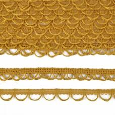 Тесьма отделочная UU цв.120 горчичный шир.18-19мм уп.16,45м