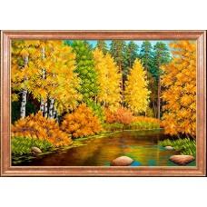 Рисунок на ткани МАГИЯ КАНВЫ КС022 Осенняя река 39х27 см