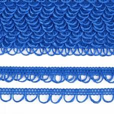 Тесьма отделочная UU цв.207 ярк.голубой шир.18-19мм уп.16,45м