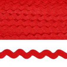 Тесьма декоративная Вьюнчик TBY.64312 шир.5мм цв.F162 красный уп.32,92м
