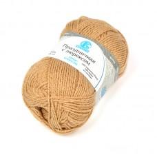 Пряжа для вязания КАМТ Праздничная (48% кашмилон, 48% акрил, 4% метанит) 10х50г/160м цв.170 арахис