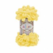 Пряжа для вязания Ализе Puffy (100% микрополиэстер) 5х100г/9.5м цв.216 желтый