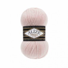 Пряжа для вязания Ализе Superlana klasik (25% шерсть, 75% акрил) 5х100г/280м цв.271 жемчужно-розовый