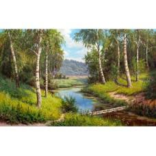 Картины по номерам Molly KH0981 Прищепа. Мостик через реку 40х50 см
