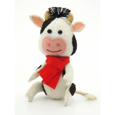 Набор для изготовления текстильной игрушки из фетра ПФД-1074 Бычок Красавчик 11,5см