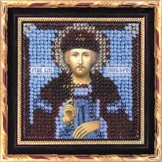 Рисунок на ткани Вышивальная мозаика  4121 Икона Св. Князь Борис 6,5х6,5 см
