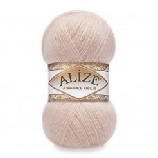 Пряжа для вязания Ализе Angora Gold (20% шерсть, 80% акрил) 5х100г/550м цв.404 пудра