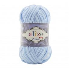 Пряжа для вязания Ализе Velluto (100% микрополиэстер) 5х100г/68м цв.218 детский голубой