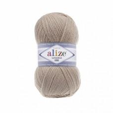 Пряжа для вязания Ализе LanaGold 800 (49% шерсть, 51% акрил) 5х100г/800м цв.005 бежевый