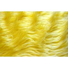 Мех Длинный ворс КЛ24322 M-1022 50х56см (±1см) желтый с белыми конч.