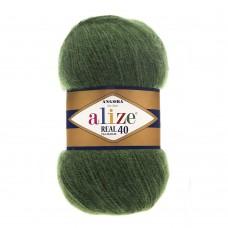Пряжа для вязания Ализе Angora Real 40 (40% шерсть, 60% акрил) 5х100г/480м цв.563 т.зеленый