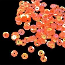 Пайетки россыпью Ideal TBY-FLK032 8мм цв.327 оранжевый уп.50г