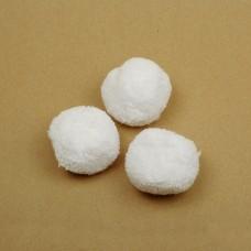Помпоны TBY из пряжи 8,5г/шт BYG50 50мм цв.белый упак. 50шт