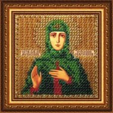 Рисунок на ткани Вышивальная мозаика  4064 Икона Св. Княгиня Евфросиния 6,5х6,5 см