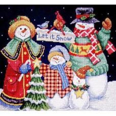 Набор для вышивания Classic Design 4380 Пусть идет снег 30х27 см