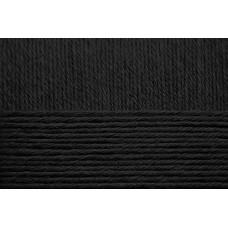 Пряжа для вязания ПЕХ Детский каприз Fit (100% акрил) 5х50г/225м цв.002 черный