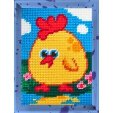 Набор для вышивания с пряжей BAMBINI X2280 Цыпленок 15х20см