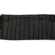 Тесьма рюш TBY CS- 8 / 1-стор. шир.50мм цв.черный уп.13.71м