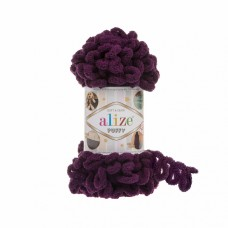 Пряжа для вязания Ализе Puffy (100% микрополиэстер) 5х100г/9.5м цв.111 сливовый