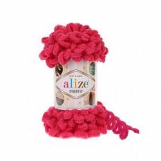 Пряжа для вязания Ализе Puffy (100% микрополиэстер) 5х100г/9.5м цв.149 фуксия