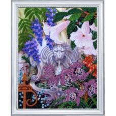 Рисунок на ткани BUTTERFLY  CA229 Фонтан в саду 35х27 см