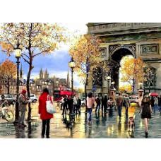 Алмазная вышивка Мой любимый Париж LG113 40х50 тм Цветной