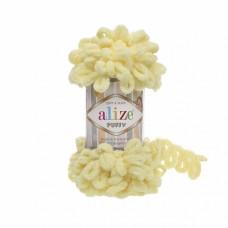 Пряжа для вязания Ализе Puffy (100% микрополиэстер) 5х100г/9.5м цв.013 св.жёлтый