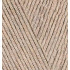 Пряжа для вязания Ализе Cotton gold (55% хлопок, 45% акрил) 5х100г/330м цв.152 бежевый меланж