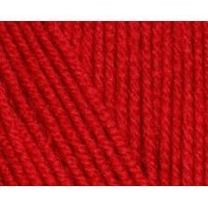 Пряжа для вязания Ализе Cotton Baby Soft (50% хлопок, 50% акрил) 5х100г/270м цв.056 красный