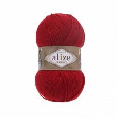 Пряжа для вязания Ализе Alpaca Royal (30% альпака, 15% шерсть, 55% акрил) 5х100г/280м цв.056 красный
