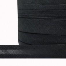 Косая бейка хлопок TBY CB15 шир.15мм цв.F322 черный уп.132 м